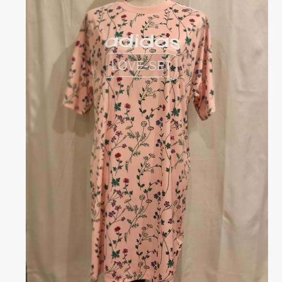 7a821607 adidas Dresses | Originals Floral Print Tshirt Dress | Poshmark